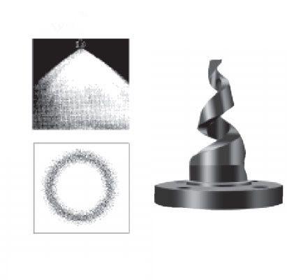 法兰型不锈钢螺旋喷嘴结构图1